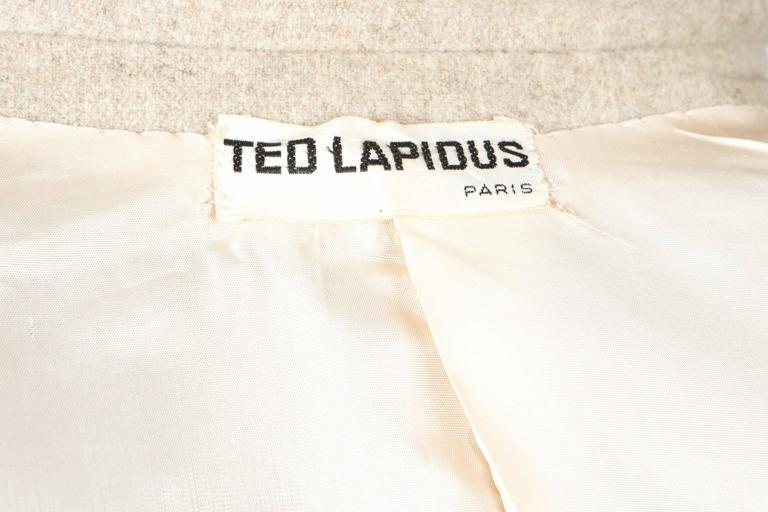 Women's 1960s Ted Lapidus Ivory Wool Coat For Sale