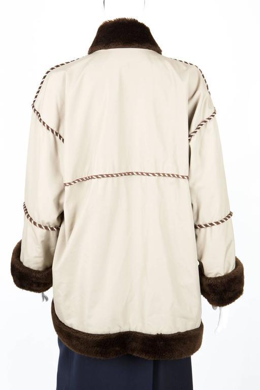 1980s Rare Saint Laurent Camel Pelisse Coat 5