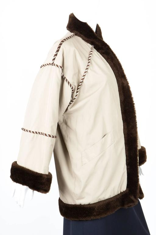 1980s Rare Saint Laurent Camel Pelisse Coat 4