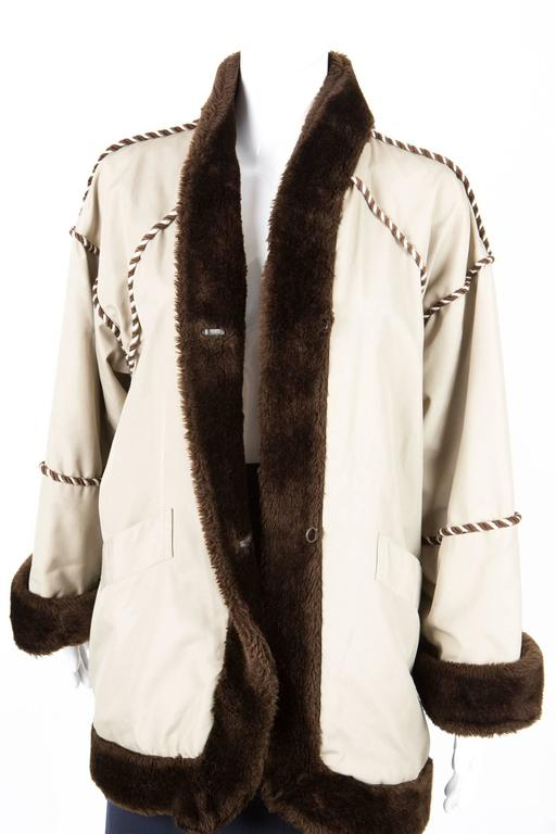 1980s Rare Saint Laurent Camel Pelisse Coat 3