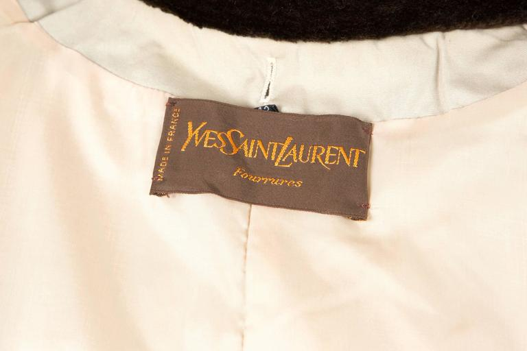 1980s Rare Saint Laurent Camel Pelisse Coat 6
