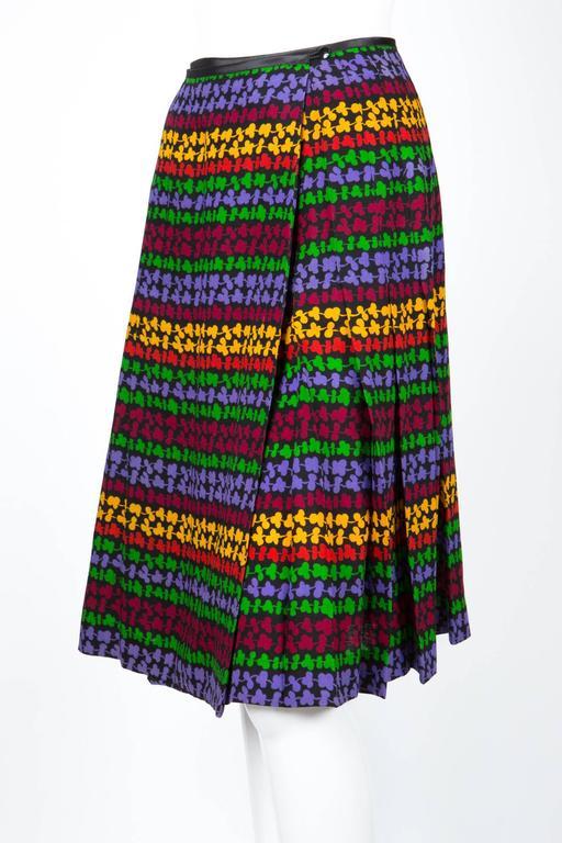 Black Saint Laurent Multicoloured Skirt For Sale