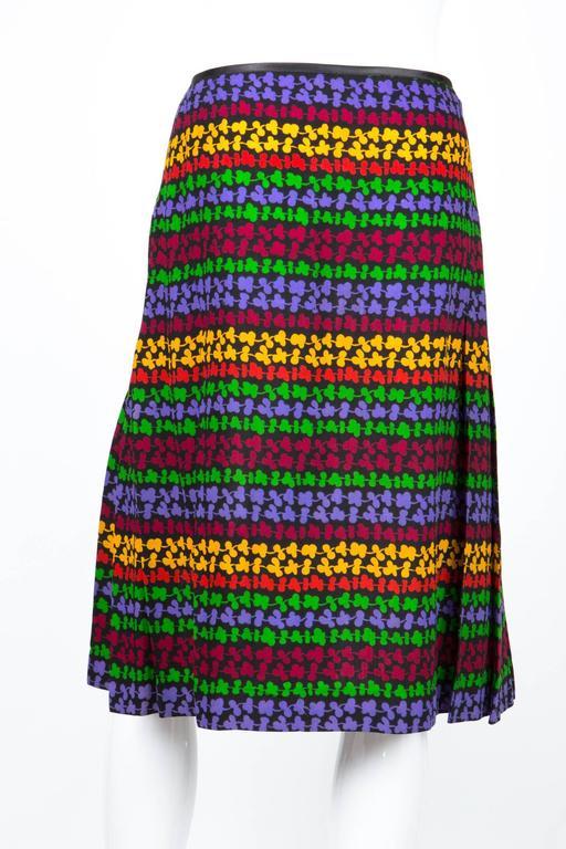 Saint Laurent Multicoloured Skirt In Excellent Condition For Sale In Paris, FR