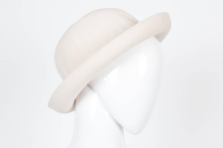Motsch Paris (Hermès artisan maker) summer cotton canvas hat ivory.