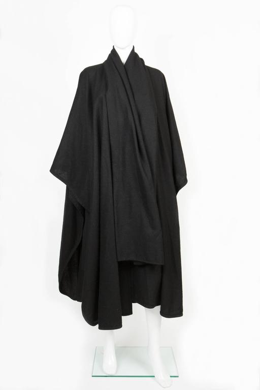 Emblematic Black Saint Laurent Wool Cape 3