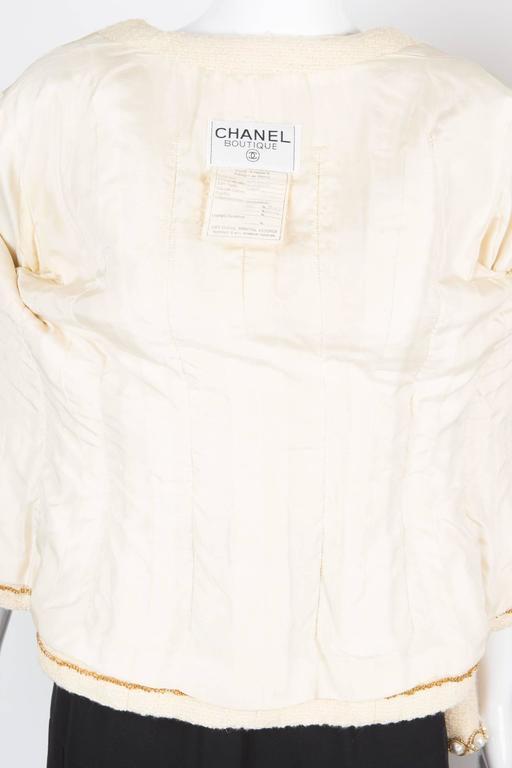 Rare Chanel Ivory Tweed Jacket 7