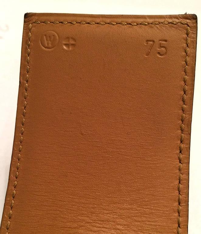 Women's Hermes Black Calfskin Leather Collier de Chien Medor Belt 75cm For Sale