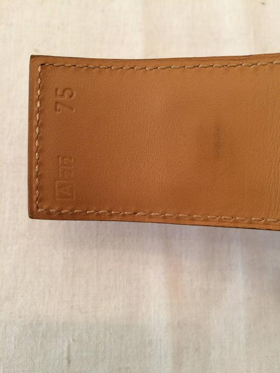 Gorgeous Hermes Orange Calfskin Leather Collier de Chien Medor Belt 75cm 5