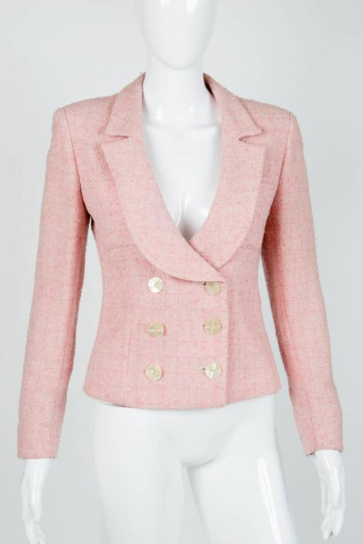 Pink Tweed Valentino Jacket For Sale At 1stdibs