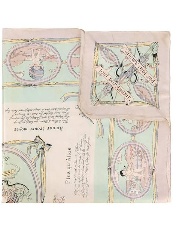 1947s  Les Amours Hermes Silk Scarf 6