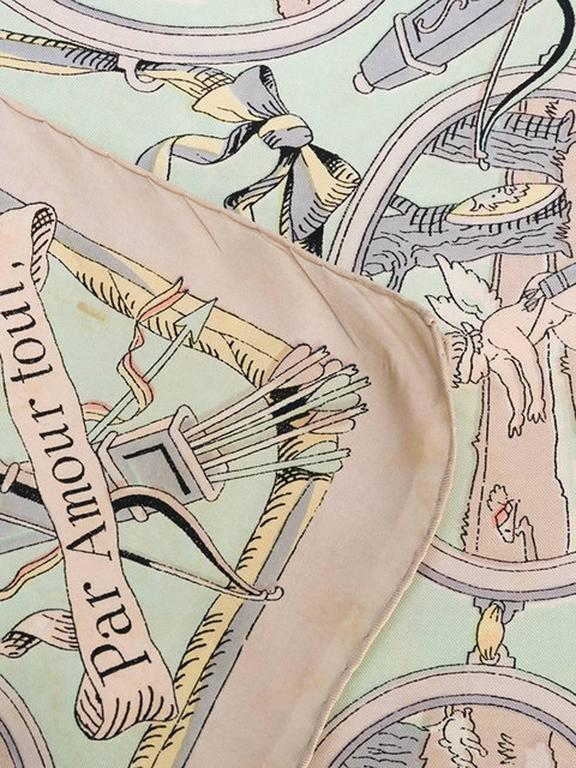 1947s  Les Amours Hermes Silk Scarf 7