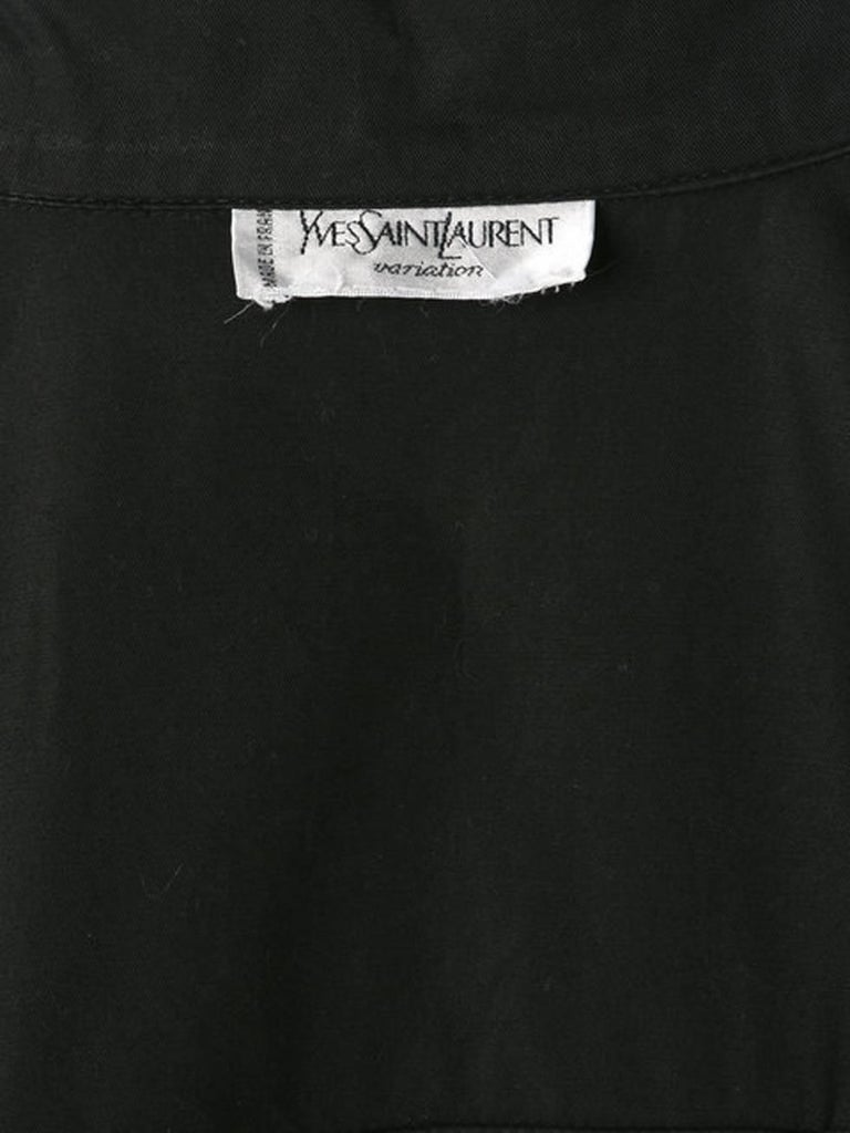 Yves Saint Laurent Black Cotton Safari Dress  For Sale 1