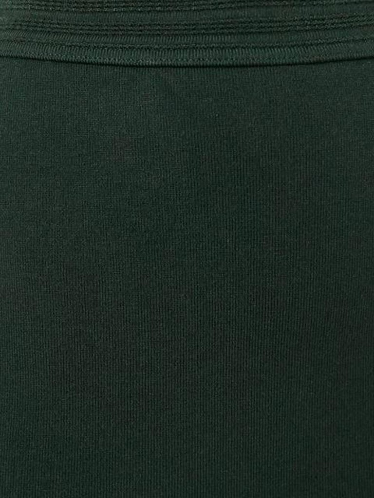 1980s Azzedine Alaia Green Pencil Skirt  In Excellent Condition For Sale In Paris, FR