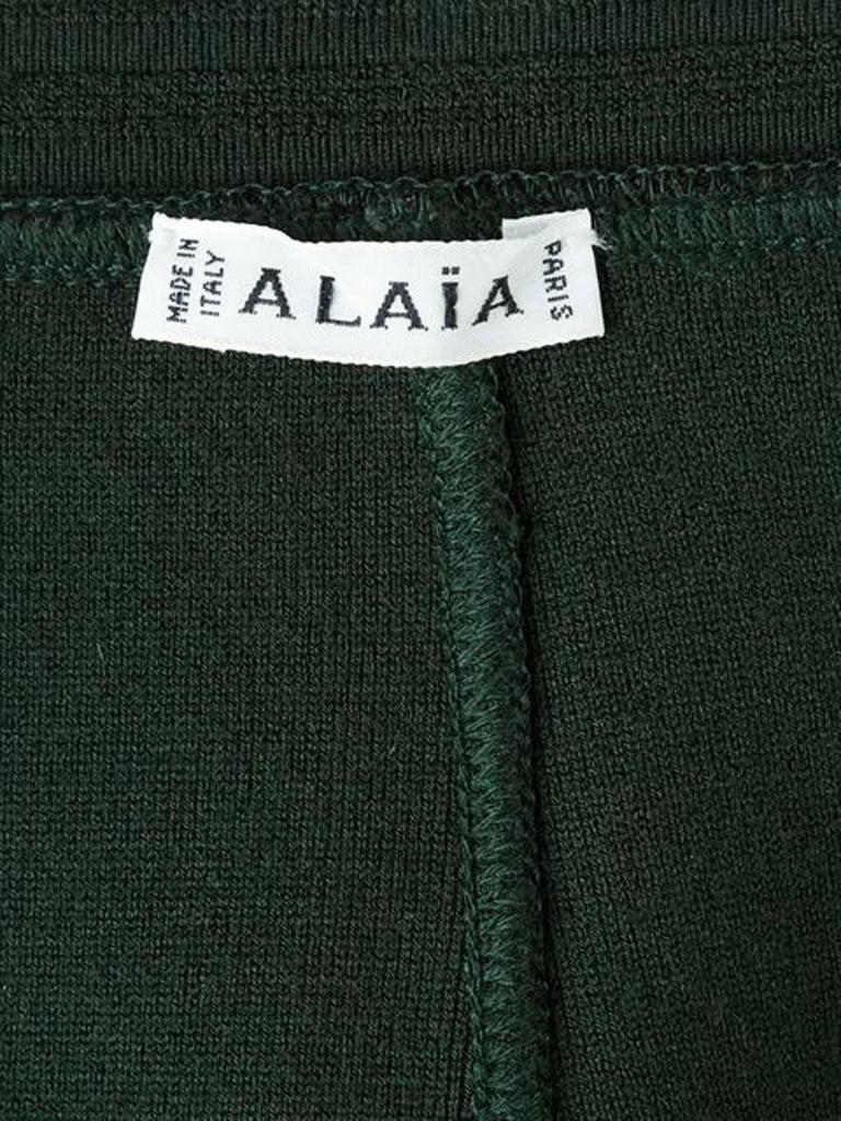 Women's  1980s Azzedine Alaia Green Pencil Skirt  For Sale