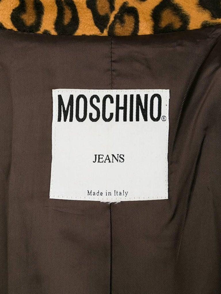Women's Moschino Leopard Animal Print Blazer For Sale