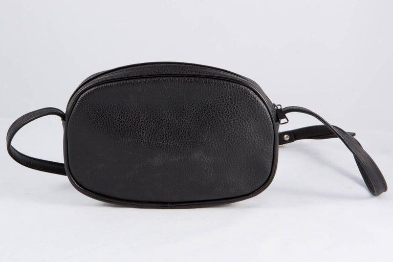 Black Courreges Leather Shoulder Bag 3
