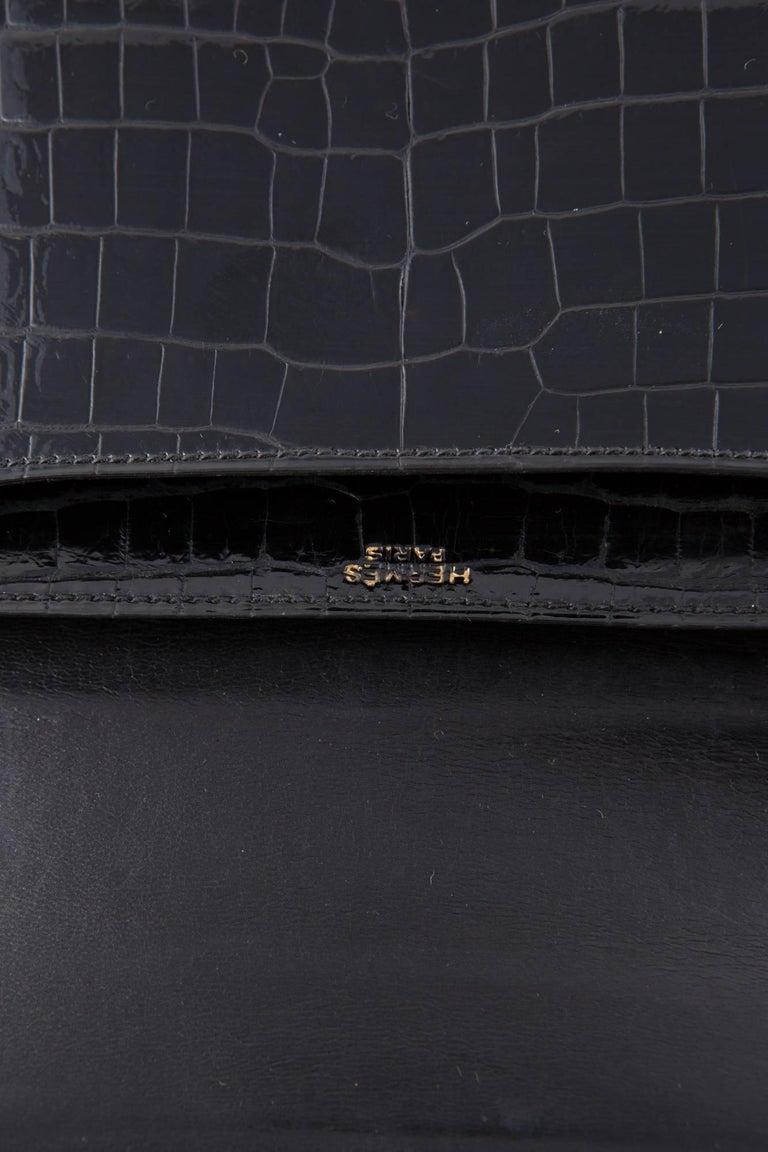1960s Black Hermes Constance H Shoulder Bag For Sale 2