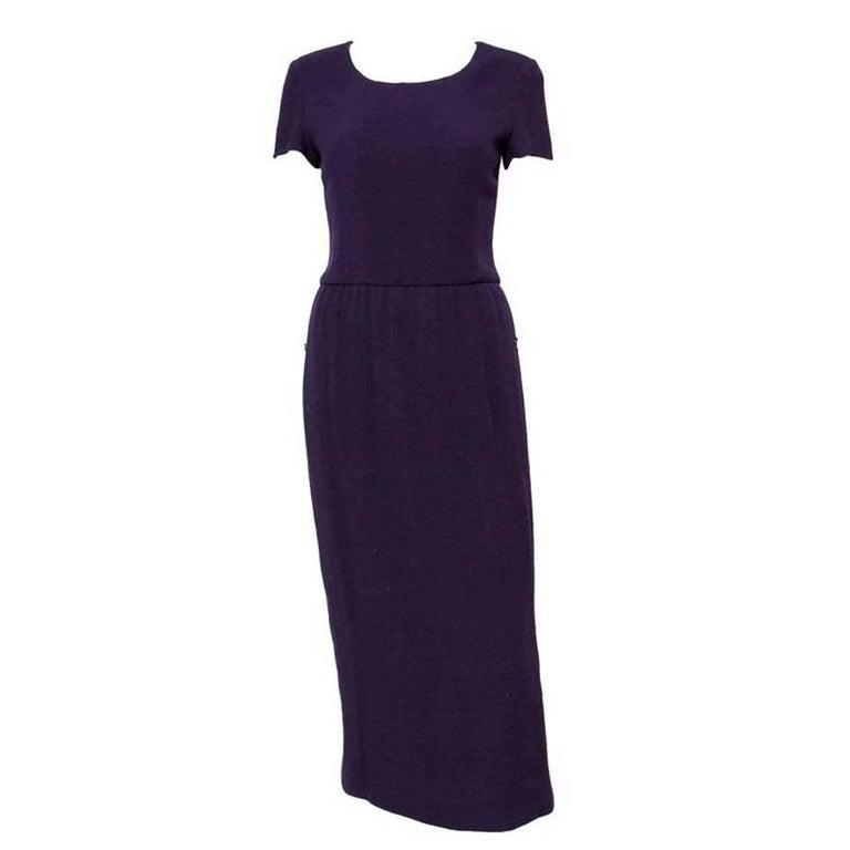 Chanel Purple Wool Dress