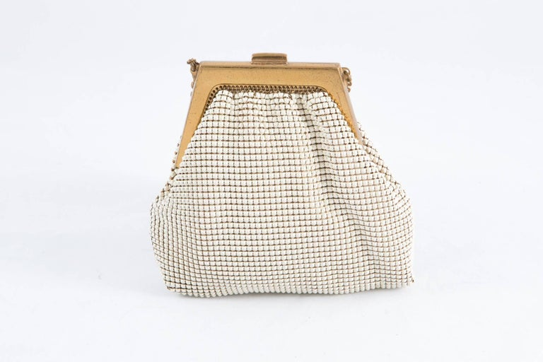 Black Ivory Whiting & Davis Beaded Evening  Bag For Sale