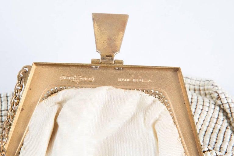Women's Ivory Whiting & Davis Beaded Evening  Bag For Sale