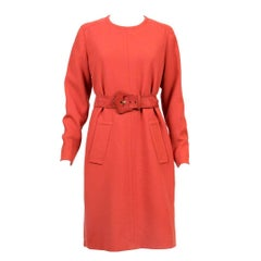 1960s Givenchy Haute Couture Numbered Rust Dress