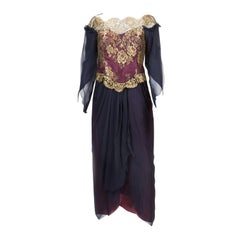 Zandra Rhodes Lace Evening Dress