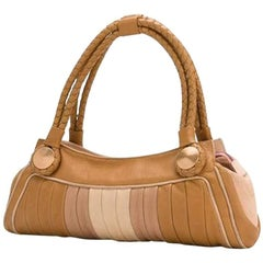Fendi Pastel Leather Baguette Tote Bag