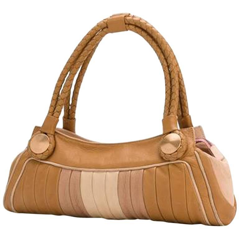 Fendi Pastel Leather Baguette Tote Bag