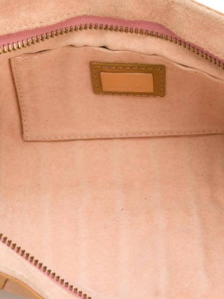 Fendi Pastel Leather Baguette Tote Bag In Excellent Condition In Paris, FR
