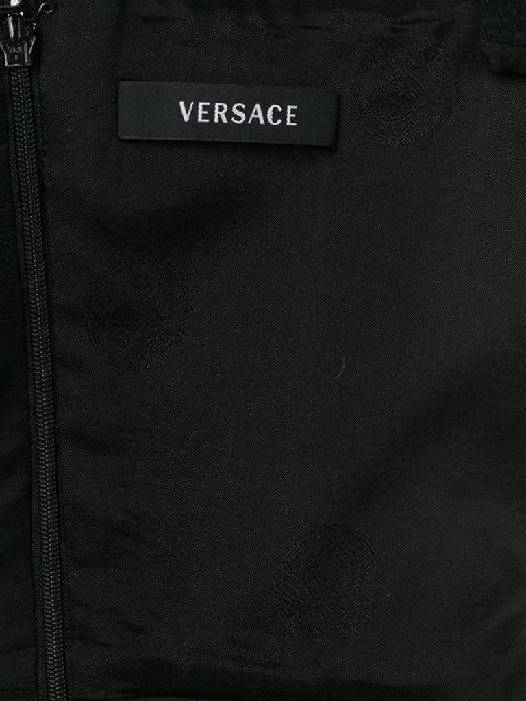 Versace Black Silk Dress For Sale 1
