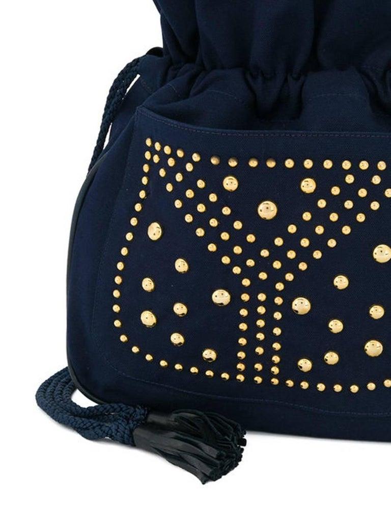 090e24704549 Yves Saint Laurent Navy cotton Bag For Sale at 1stdibs