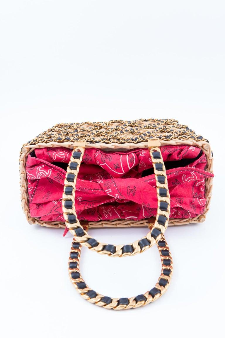 Chanel Catwalk Basket Bag, Spring / Summer 1990s For Sale 3