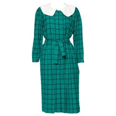 Pierre Cardin Wool Green Dress