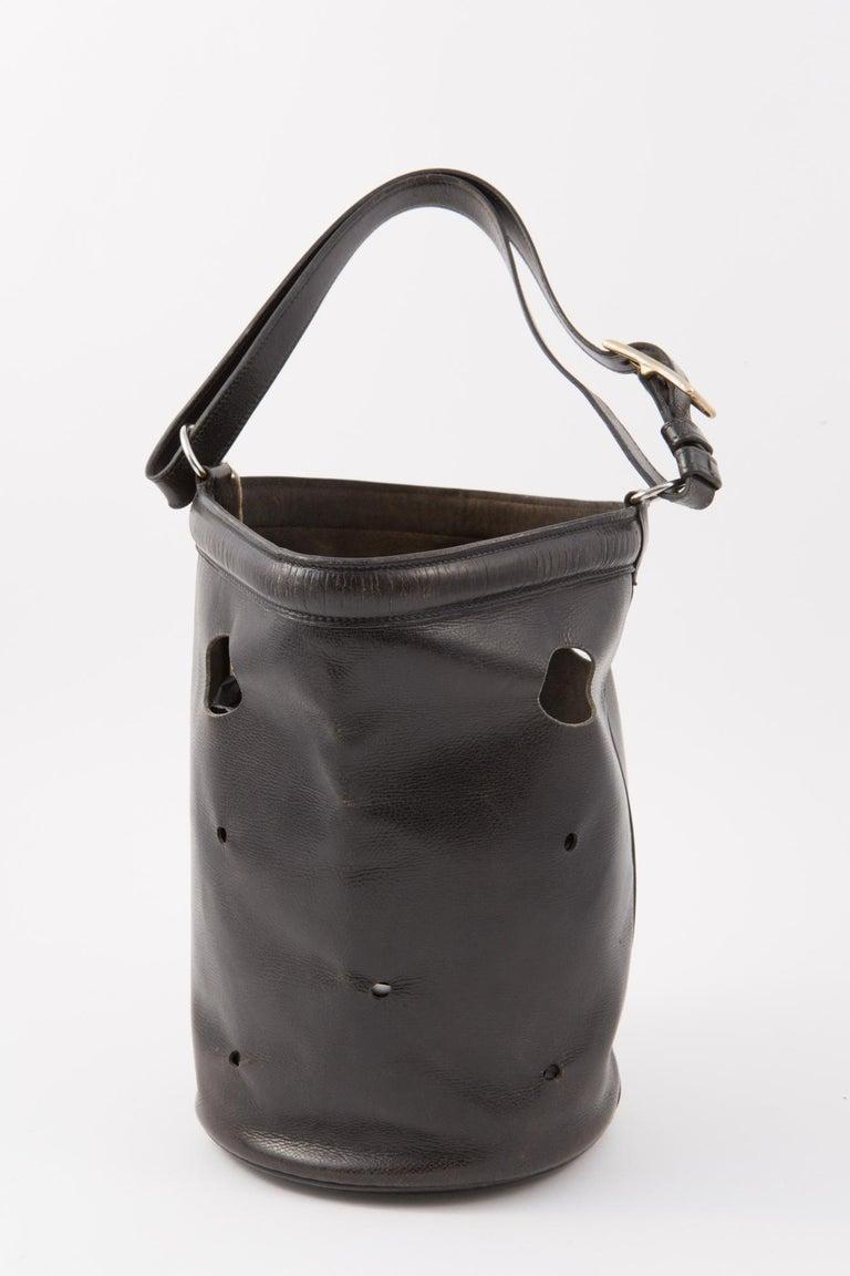 Women's Hermes Black Box Calf Mangeoire Tote Bag and Hermès Passementerie Silk Scarf For Sale