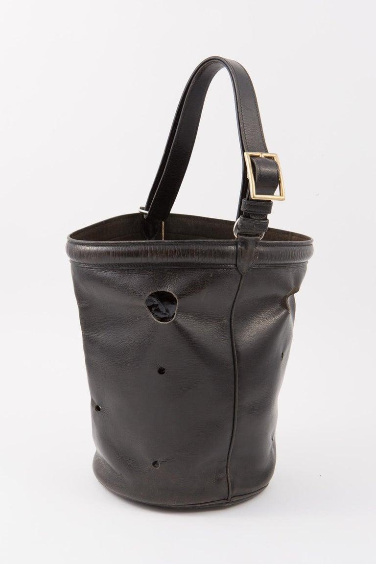 Hermes Black Box Calf Mangeoire Tote Bag and Hermès Passementerie Silk Scarf For Sale 1