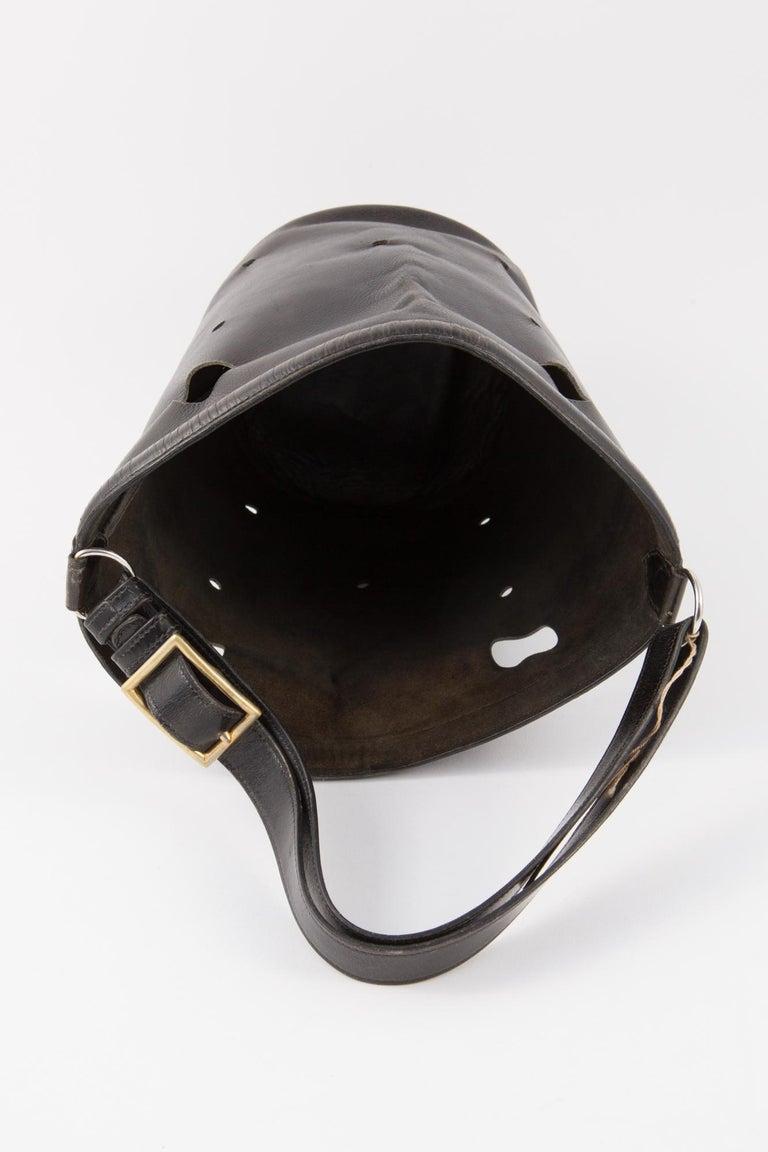 Hermes Black Box Calf Mangeoire Tote Bag and Hermès Passementerie Silk Scarf For Sale 4