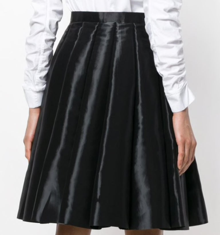 Junya Watanabe Comme des Garcons Catwalk Black Flared Skirt In Excellent Condition For Sale In Paris, FR