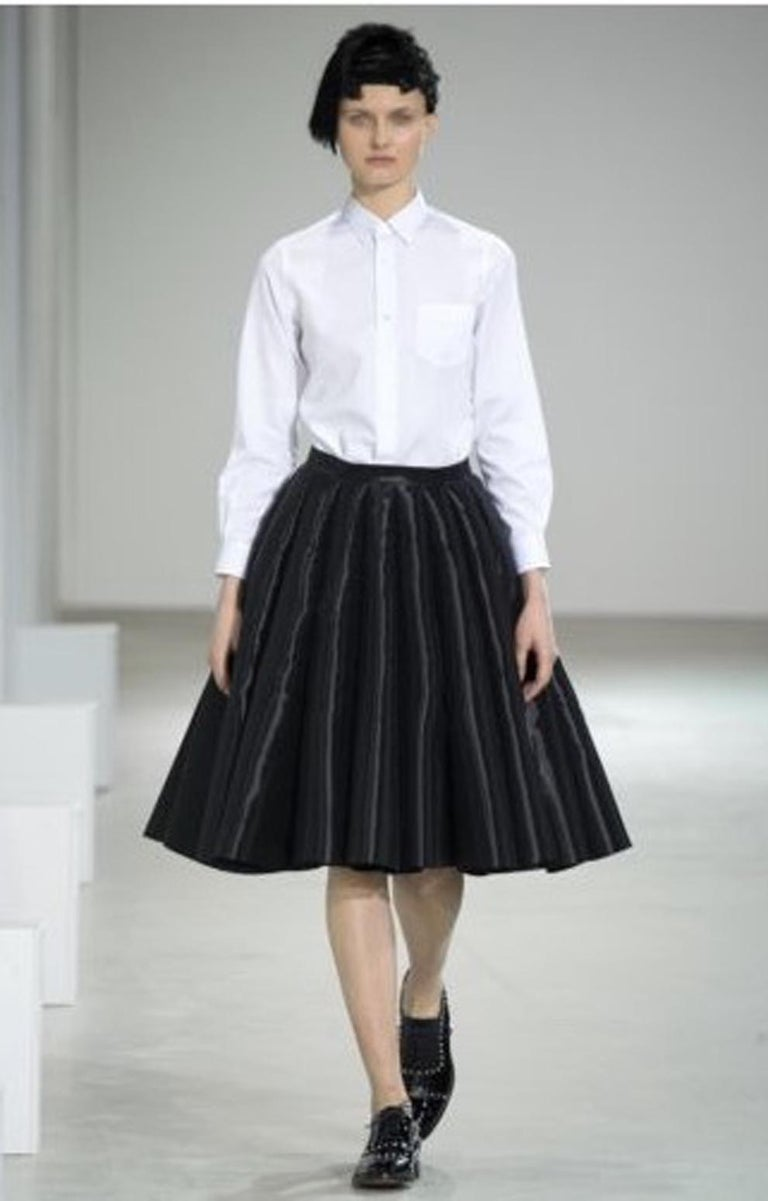 Junya Watanabe Comme des Garcons Catwalk Black Flared Skirt For Sale 2
