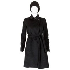 Céline Black Wool and Cashmere Fitted Coat