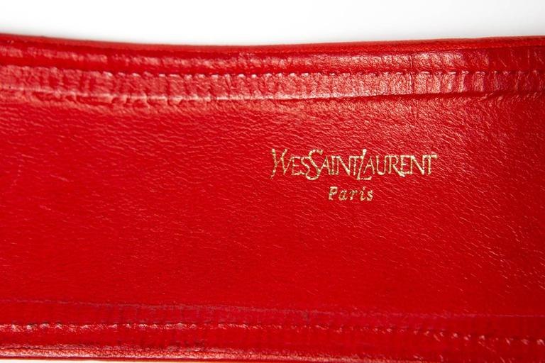 1977 Rare Russian Collection Yves Saint Laurent Red Braided Belt 3