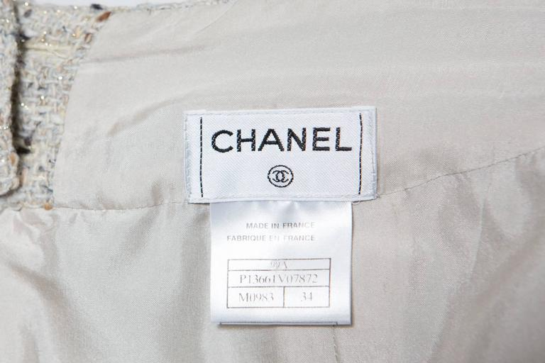 Chanel Camel Tweed and Lurex Skirt 6