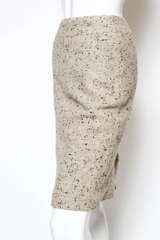 Chanel Camel Tweed and Lurex Skirt 3