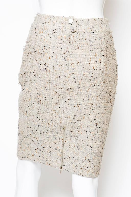 Chanel Camel Tweed and Lurex Skirt 5