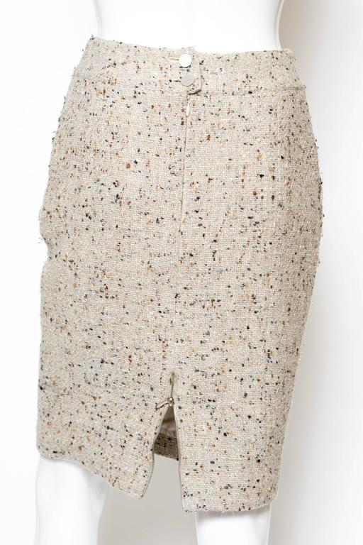 Chanel Camel Tweed and Lurex Skirt 4