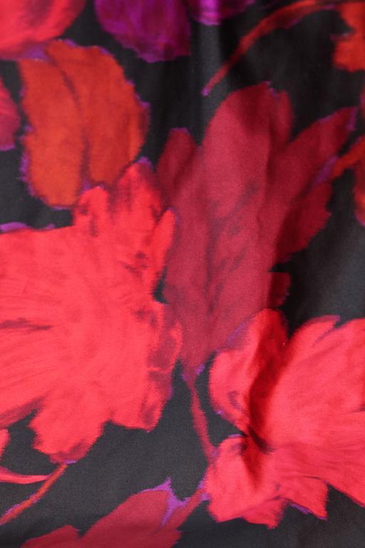 1980s Lapidus Haute Couture Plum Velvet and Taffeta Evening Gown For Sale 2
