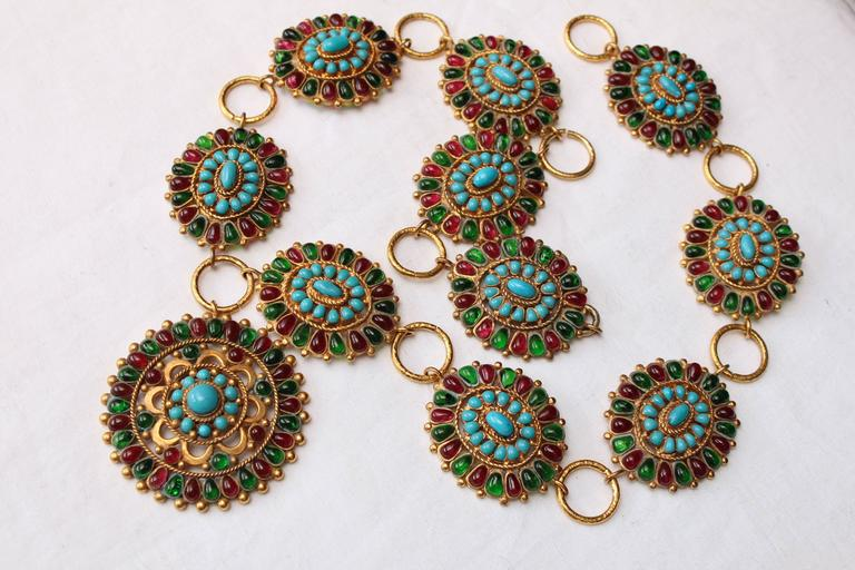 1993 Exceptional Chanel by Gripoix Byzantine Statement Necklace In Excellent Condition For Sale In Paris, FR