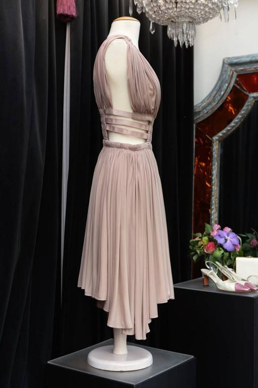 2000s Alaia Light Pink Greek Style Mini Dress In Excellent Condition For Sale In Paris, FR
