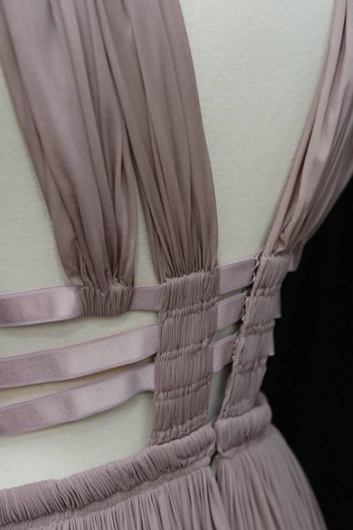 2000s Alaia Light Pink Greek Style Mini Dress For Sale 1