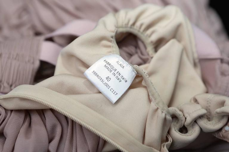 2000s Alaia Light Pink Greek Style Mini Dress For Sale 3
