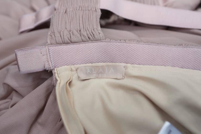 2000s Alaia Light Pink Greek Style Mini Dress For Sale 2